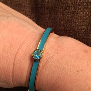 Kate spade turquoise enamel bangle with crystal